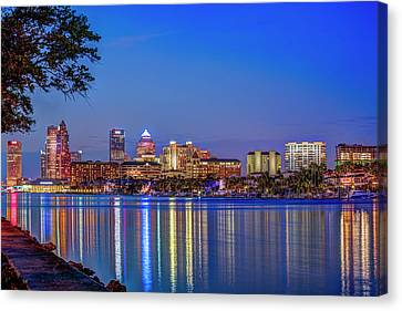 Reflection Of A City Canvas Print by Marvin Spates