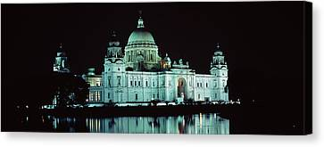 Reflection Of A Palace In Water Canvas Print