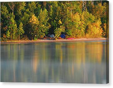 Reflection Of Camp Canvas Print by Kyle Krosting