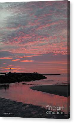 Canvas Print - Reflection Of Pink by Tannis Baldwin