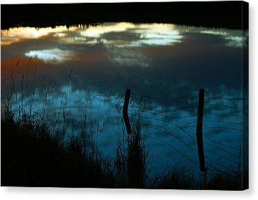 Reflection Of The Sky In A Pond Canvas Print by Mario Brenes Simon
