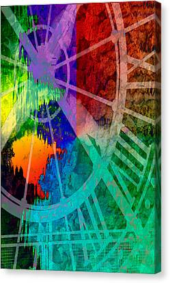 Reflection Of Time Canvas Print by Brian Roscorla