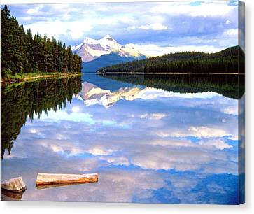 Reflection On Malign Lake Canvas Print