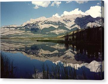 Reflection On Talbot Lake Canvas Print by Shirley Sirois