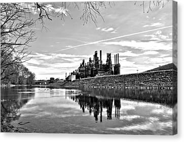 Reflection On The Lehigh Canvas Print