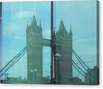 Reflection Tower Bridge Canvas Print