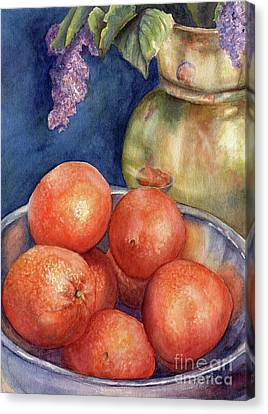 Reflections And Oranges Canvas Print by Malanda Warner