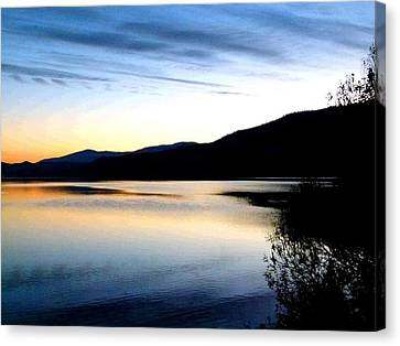 Colorful Sky Canvas Print - Reflections And Silhouettes by Will Borden
