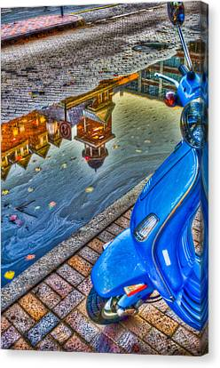 Street Shot Canvas Print - Reflections by Andrew Kubica