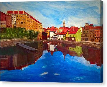 Czech Reflections Canvas Print