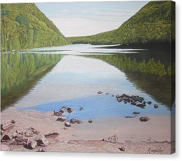Reflections At Bubble Pond Canvas Print