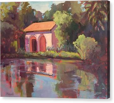 Reflections At Lotusland Canvas Print