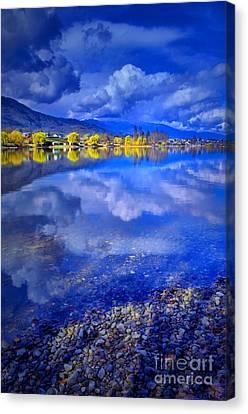 Reflections At Osoyoos Lake Canvas Print by Tara Turner
