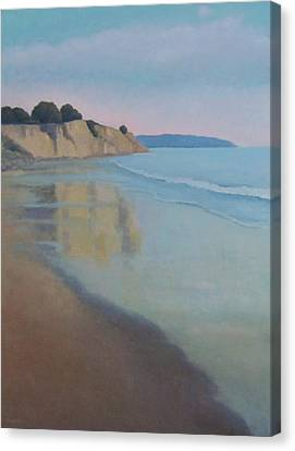 Reflections At Summerland Beach Series 3 Canvas Print
