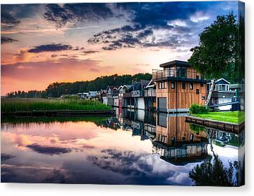Reflections At Sunset Canvas Print by Skitterphoto