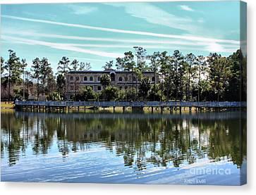 Reflections At The Lake Canvas Print by Deborah Benoit