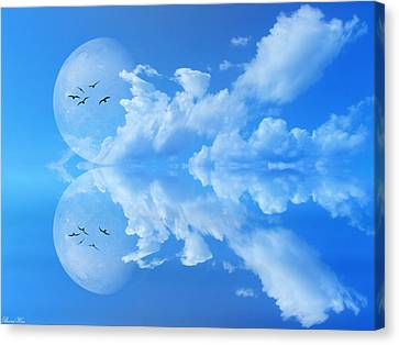 Canvas Print featuring the photograph Reflections by Bernd Hau