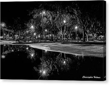 Reflections - Bw Canvas Print
