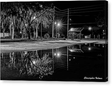 Reflections II - Bw Canvas Print