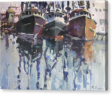 Canvas Print featuring the painting Reflections II by Robert Joyner