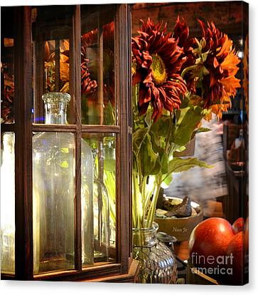 Reflections In A Glass Bottle Canvas Print