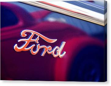 Antique Automobiles Canvas Print - Reflections In An Old Ford Automobile by Carol Leigh