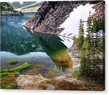 Reflections In Ellery Canvas Print by Donald Neff