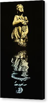Reflections In The Moonlight Canvas Print by Bill Cannon