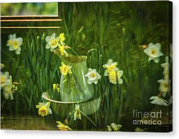 Reflections In The Window Canvas Print by Mitch Shindelbower