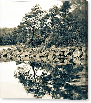 Canvas Print featuring the photograph Reflections by Karen Stahlros
