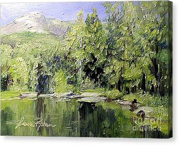 Canvas Print featuring the painting Reflections by Laurie Rohner