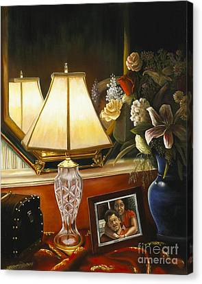 Canvas Print featuring the painting Reflections by Marlene Book