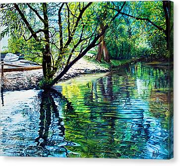 Trees Reflections Canvas Print