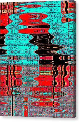 Reflections Number 1 Canvas Print by Teodoro De La Santa