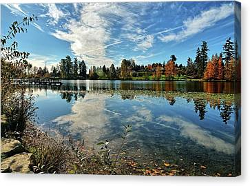Reflections Of A Day Gone By Canvas Print by Tim Coleman