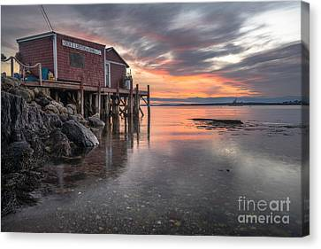 Reflections Of A Maine Fishing Shack Canvas Print