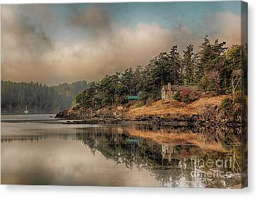 Reflections Of An Island Canvas Print