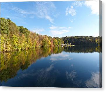 Reflections Of Autumn Canvas Print by Donald C Morgan