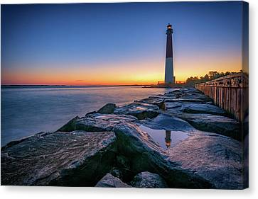 Guides Canvas Print - Reflections Of Barnegat Light by Rick Berk