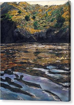 Reflections Of Catalina Canvas Print by Randy Sprout