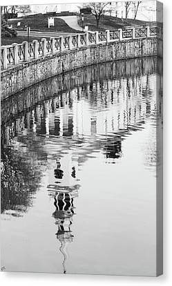 Reflections Of Church 2 Canvas Print by Karol Livote