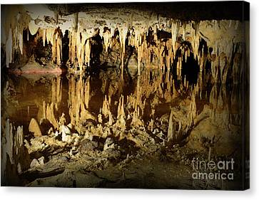 Reflections Of Dream Lake At Luray Caverns Canvas Print by Paul Ward