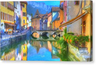 Reflections Of Eze Canvas Print by Chris Armytage