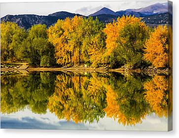 Reflections Of Fall Canvas Print by Juli Ellen