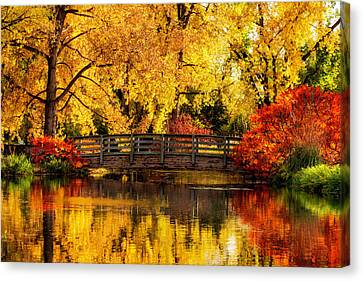 Reflections Of Fall Canvas Print by Kristal Kraft