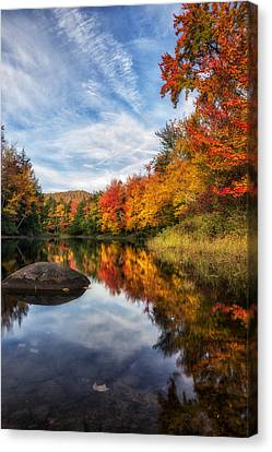 Reflections Of Fall Canvas Print by Mark Papke