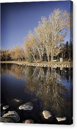 Reflections Of Henderson Canvas Print by Tom Buchanan
