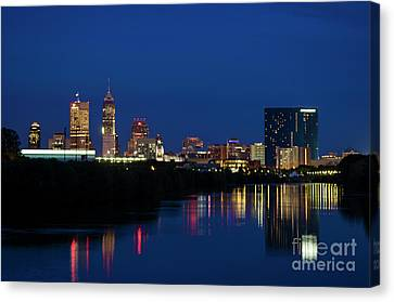 Canvas Print featuring the photograph Reflections Of Indy - D009911 by Daniel Dempster