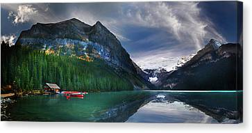 Canvas Print featuring the photograph Reflections Of by John Poon