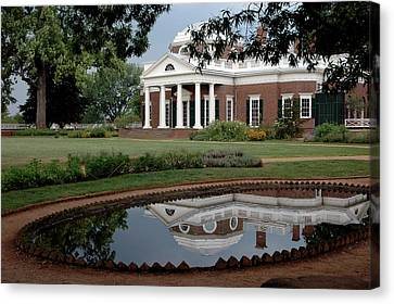 Reflections Of Monticello Canvas Print by LeeAnn McLaneGoetz McLaneGoetzStudioLLCcom